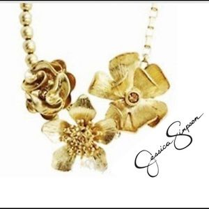 Jessica Simpson Flower Pendant Statement Necklace
